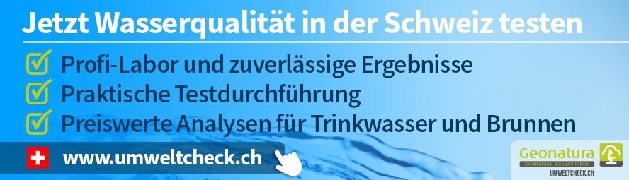 Wasserqualität in der Schweiz testen